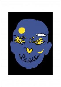 ポスターアーティスト秋山孝が1988年に制作したアートカード「アートカード ポスター 1988 06」
