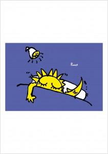 ポスターアーティスト秋山孝が1990年に制作したアートカード「アートカード ポスター 1990 03」