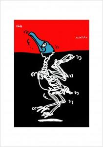 ポスターアーティスト秋山孝が1991年に制作したアートカード「アートカード ポスター 1991 05」