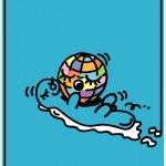 ポスターアーティスト秋山孝が富山市からの依頼により2007年に制作したポスター「SAVE THE EARTH ポスターの街とやま」