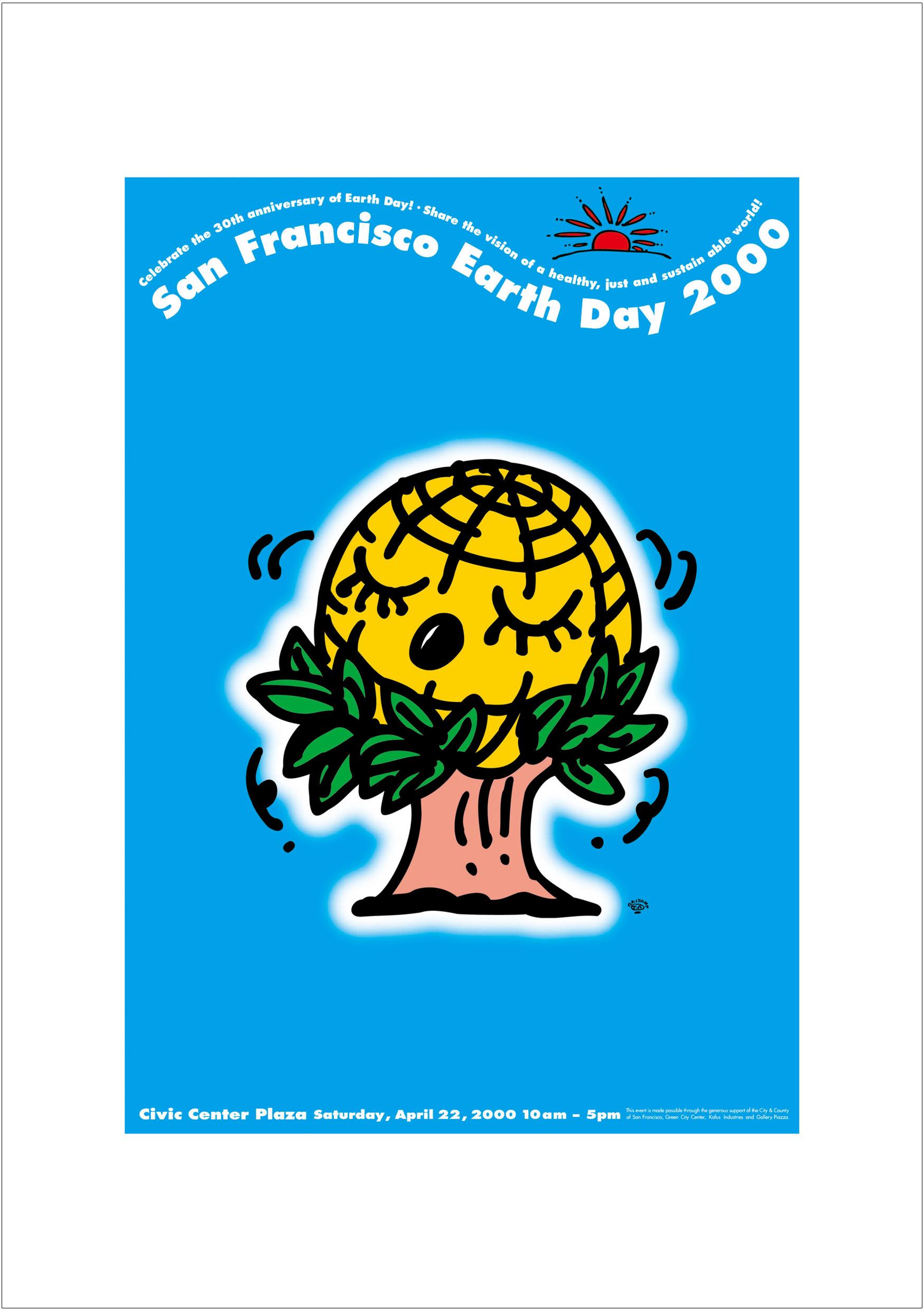 ポスターアーティスト秋山孝が2000年に制作したアートカード「アートカード ポスター 2000 05」
