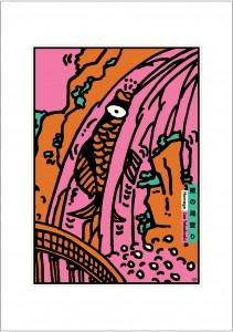 ポスターアーティスト秋山孝が2002年に制作したアートカード「アートカード ポスター 2002 09」