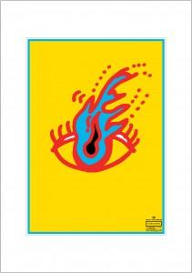 ポスターアーティスト秋山孝が2003年に制作したアートカード「アートカード ポスター 2003 01」