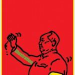 ポスターアーティスト秋山孝が 朝日新聞出版からの依頼井より2008年に描いたポスター「Chinese Posters Takashi Akiyama」