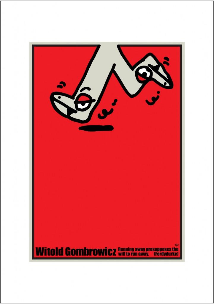 ポスターアーティスト秋山孝が2004年に制作したアートカード「アートカード ポスター 2004 03」