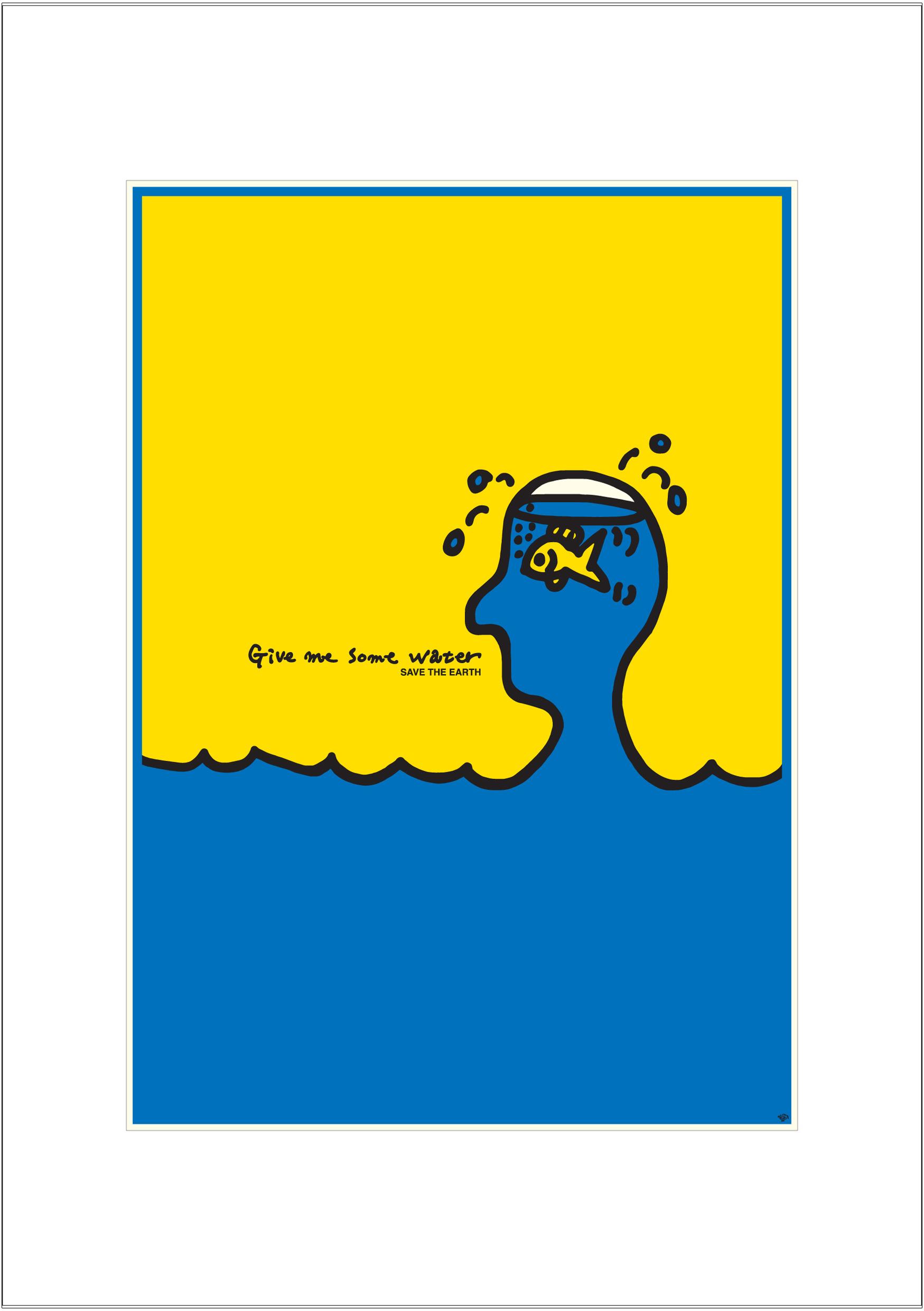 ポスターアーティスト秋山孝が2005年に制作したアートカード「アートカード ポスター 2005 01」