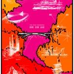 ポスターアーティスト秋山孝が社団法人 日本建築学会からの依頼により2009年に制作したポスター「ARCHI-NEERING DESIGN TIME-SPACE-ENGINEERING red」
