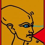 ポスターアーティスト秋山孝が 多摩美術大学イラストレーションスタディーズからの依頼により2011年に制作したポスター「 Message Illustration Poster - Tama Art University Illustration Studies」