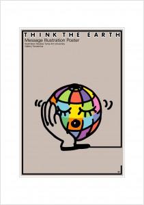 ポスターアーティスト秋山孝が2008年に制作したアートカード「アートカード ポスター 2008 3」