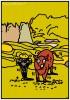 ポスターアーティスト秋山孝が秋山孝ポスター美術館長岡からの依頼により2012年に制作したポスター「越後百景・十選九番「山古志の棚田」」